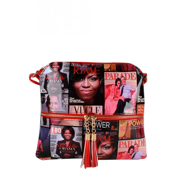 Michelle Obama crossbody bag - red