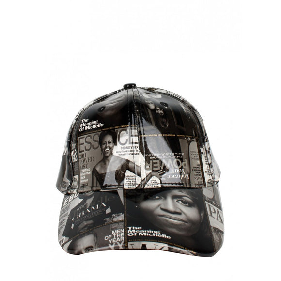 Michelle Obama magazine cap - bk/wt