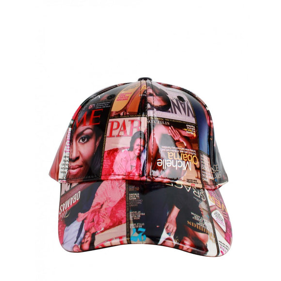 Michelle Obama magazine cap - multi