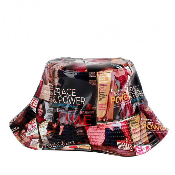 Michelle Obama magazine bungee hat - multi