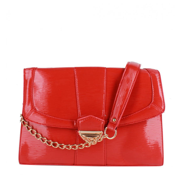 Chain crossbody bag - orange