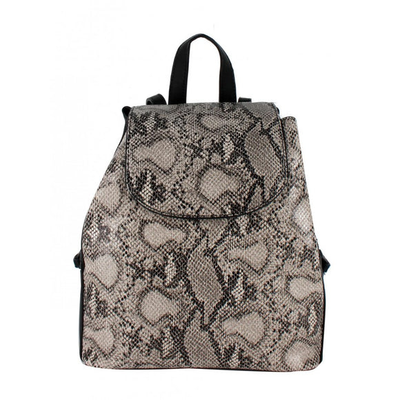 Phyton snake pattern backpack - stone
