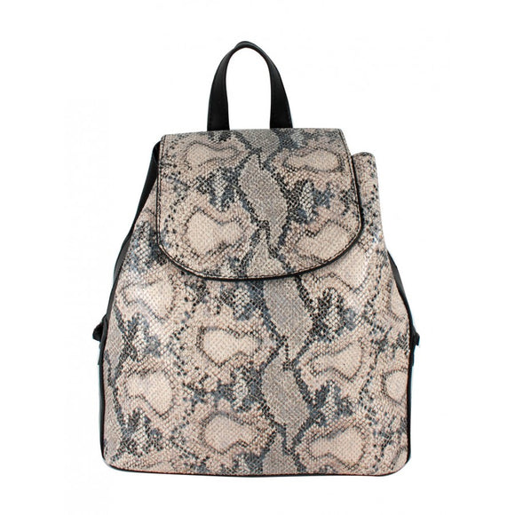 Phyton snake pattern backpack - tan