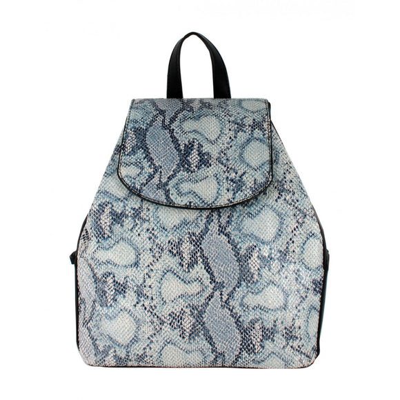 Phyton snake pattern backpack - blue