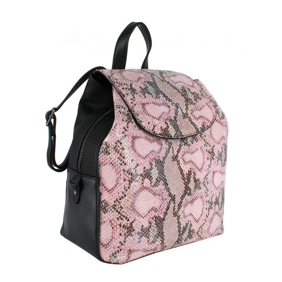 Phyton snake pattern backpack - pink