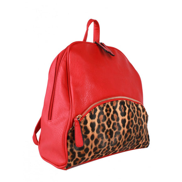 3 in 1 Leopard backpack - black