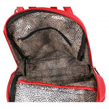 3 in 1 Leopard backpack - dark silver