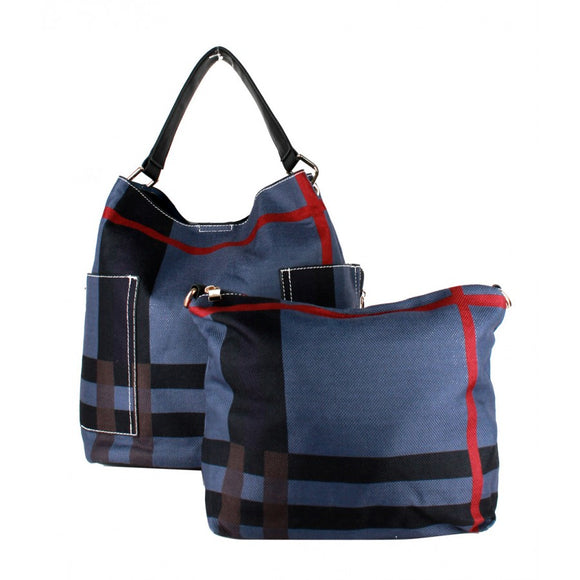 Stripe fashion bag - blue