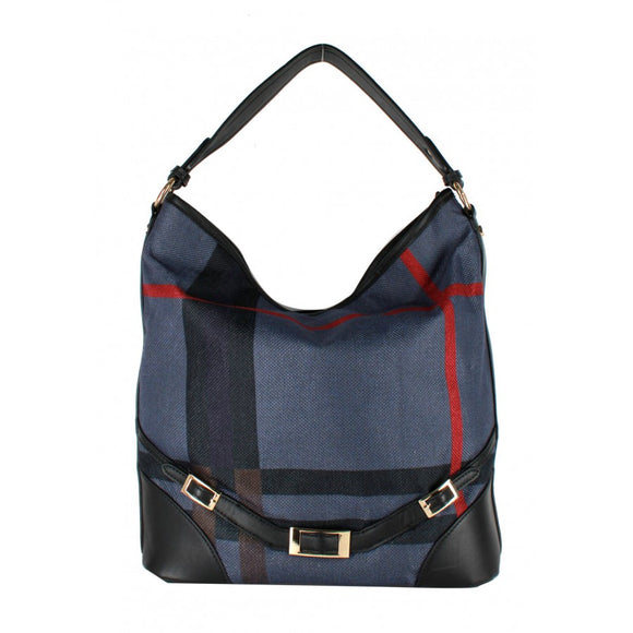 Stripe hobo - blue