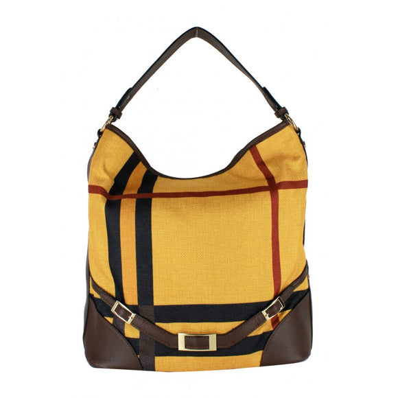 Stripe hobo - mustard