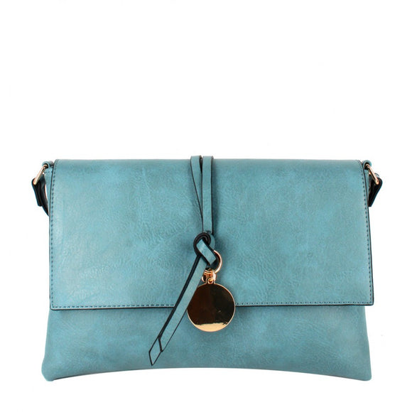 Knot crossbody bag - denim