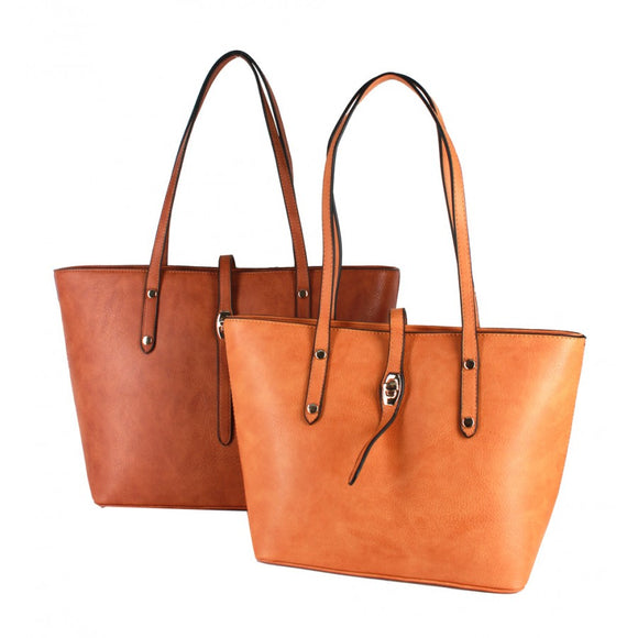 Double Fashion tote - cognac/brown