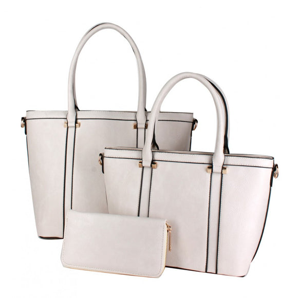 3 in 1 tote set - off white