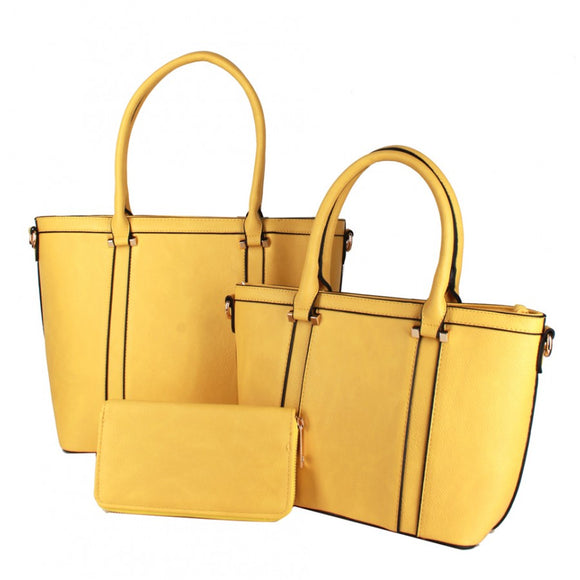 3 in 1 tote set - yellow