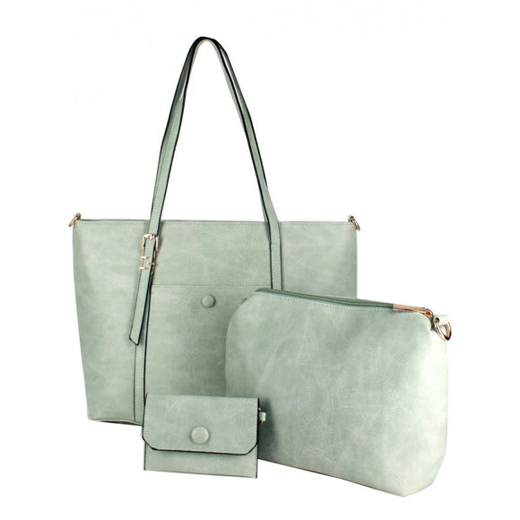 3 in 1 basic tote set - mint