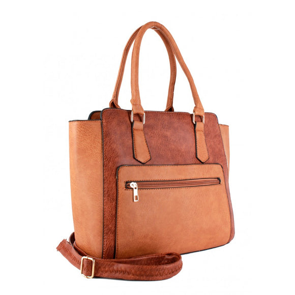 Fashion zipper tote - apricot