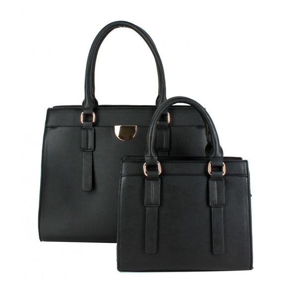 Classic tote double set - black