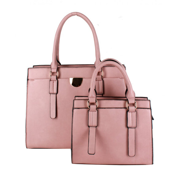 Classic tote double set - baby pink