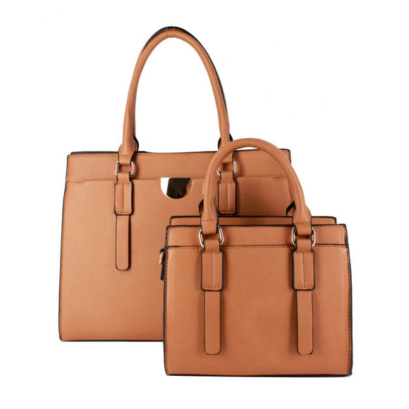 Classic tote double set - camel