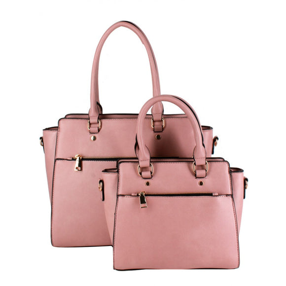 Double fashion tote - baby pink