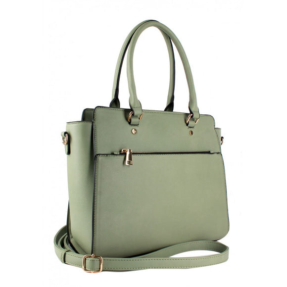 Double fashion tote - sage
