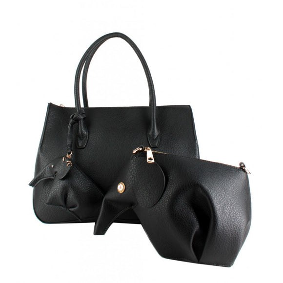 Modern doctor bag - black