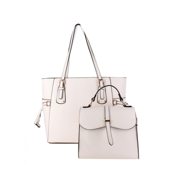 Tote & crossbody bag - off white