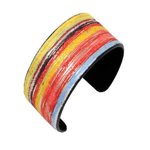 Multi hand painted cuff bracelet