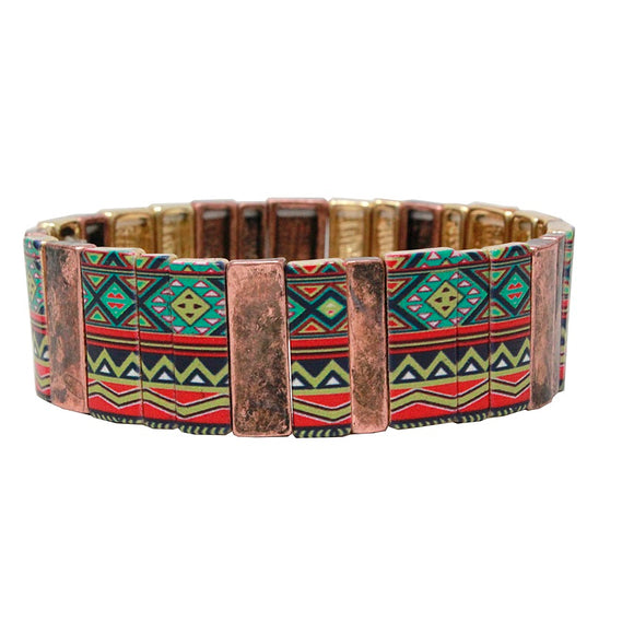 Aztec bracelet - copper