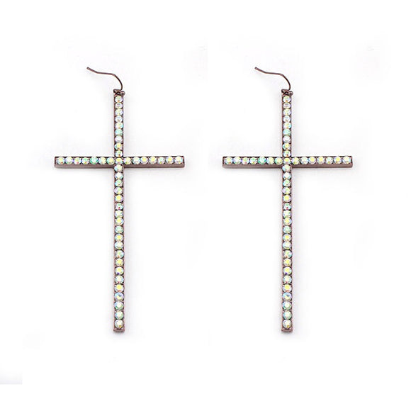 [12PC] Pave Cross earring - CHAB