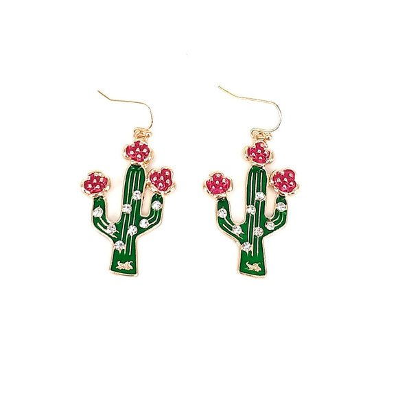 [2PCS] Cactus epoxy earring