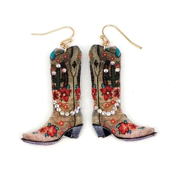 [12PC] Western boots -flower & cactus