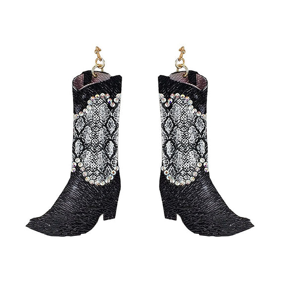 [12PC] Western boots -snake skin