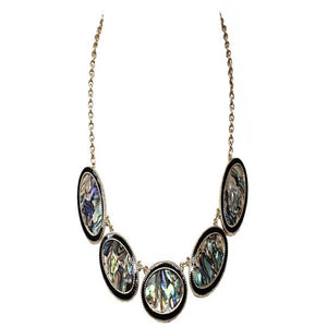BIB ABALONE NECKLACE SET - Pink Vanilla