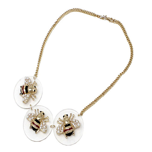 Insect Bee necklace set