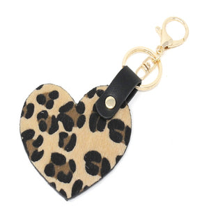 HEART KEY CHAIN - NATURAL
