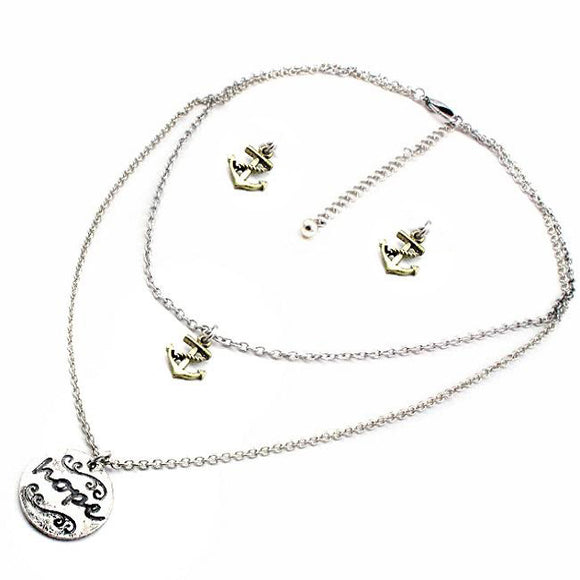 Hope & anchor necklace set