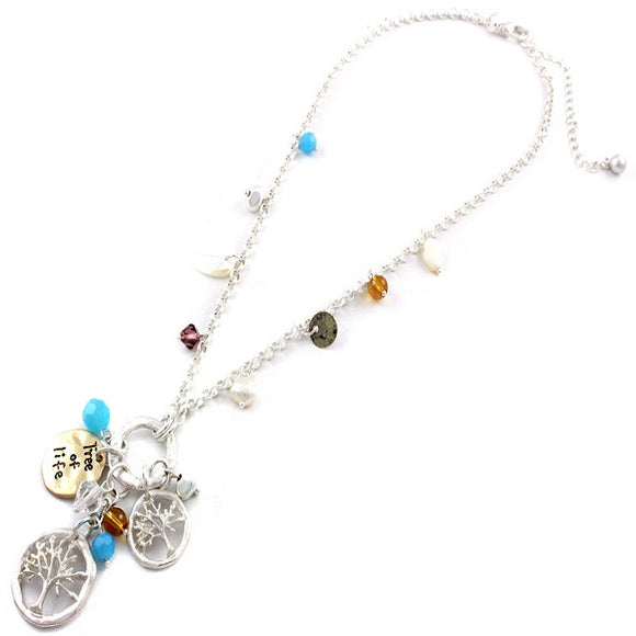 Tree of life charm necklace set