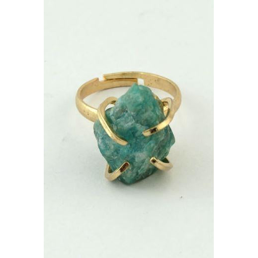 SEMI NATURAL STONE RING