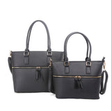 Zipper tote set - black