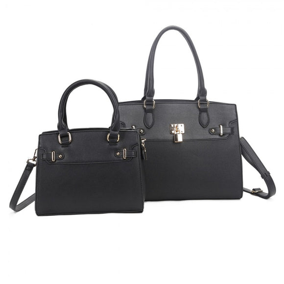 Tote and backpack set - black