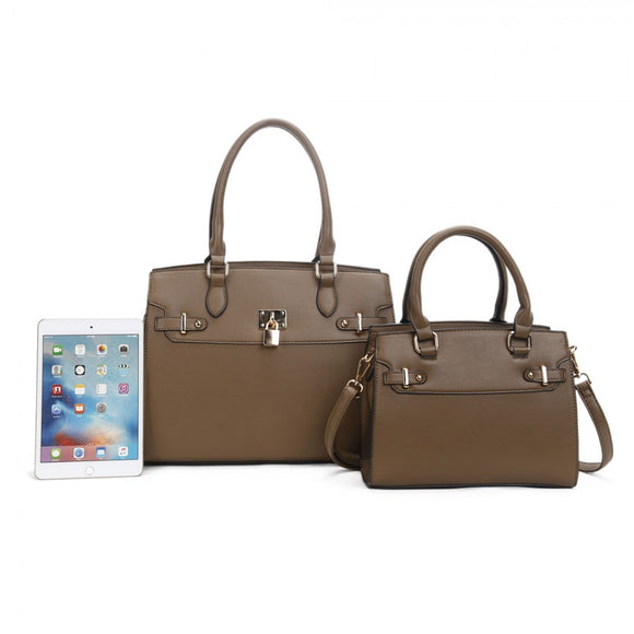 Tote and backpack set - stone