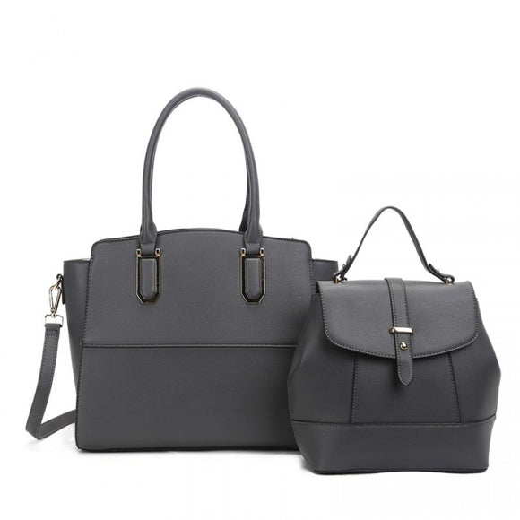 Tote and backpack set - grey