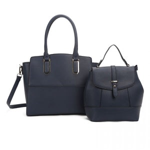 Tote and backpack set - navy