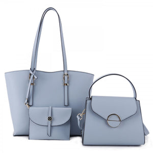 3 in 1 market tote set - blue