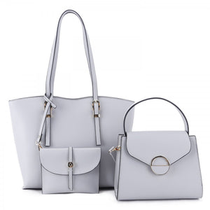 3 in 1 market tote set - grey
