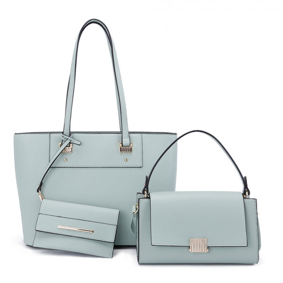 3 in 1 fashion handbag set - mint green