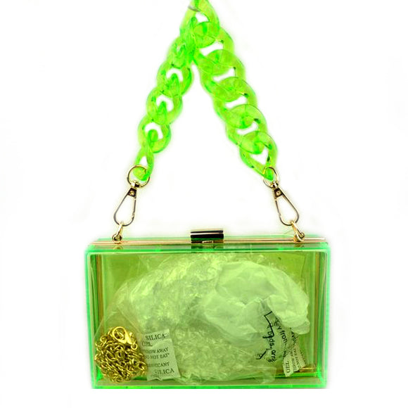Acrylic square bag - green