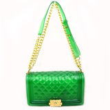 Jelly chain crossbody bag - green