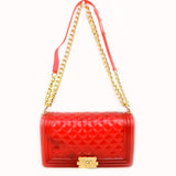 Jelly chain crossbody bag - red